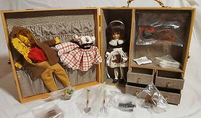 """Tonner Tiny Betsy McCall 8"""" Doll Thanksgiving Trunk O'Plenty Gift Set Complete"""