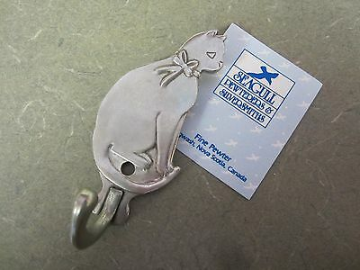 Seagull Pewter Cat Kitty Wall Hook Hanger Canada New
