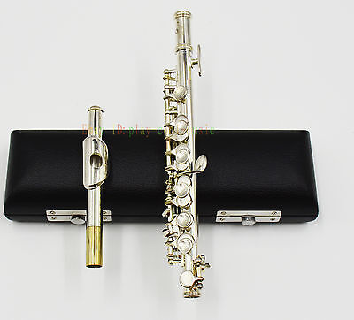 Piccolo silver Plate C tone with leather case