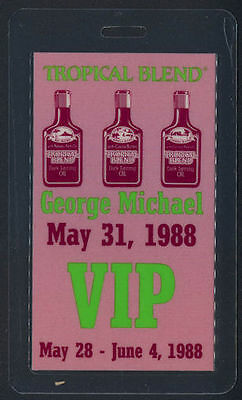 Rare George Michael Laminated OTTO Backstage Pass from the Concert In Paris