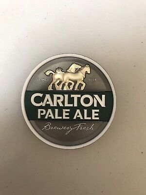 Carlton Pale Ale Metal Beer Badge