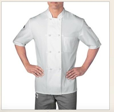 Medium Short sleeve cloth knot button CHEF JACKET (5610) NWOT