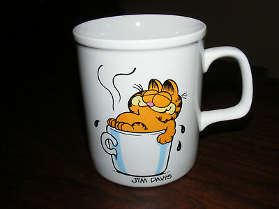 "Vintage 1981 Garfield Cat "" I Love My Coffee "" Mug Cup Jim Davis 10 oz"