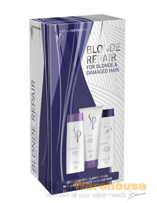 Wella SP Repair System Professional Beautiful Blonde Shampoo Trio Pack