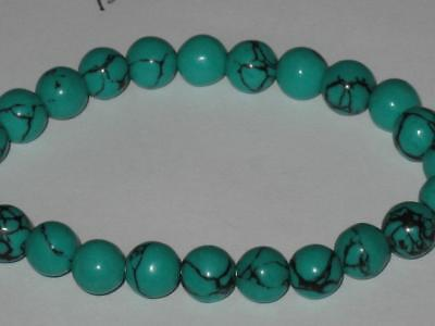 8mm Turquoise Gem Bracelet Witch Estate GOOD FORTUNE LUCK PSYCHIC POWERS LOVE