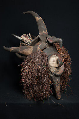 Yaka Suku Helmet Mask, South Western Congo, African Tribal Arts.