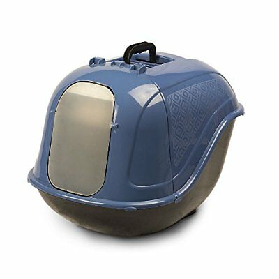 Extra Large Hooded Cat Litter Box Cabinet Cover Blue/Gray Pet Champion USA New