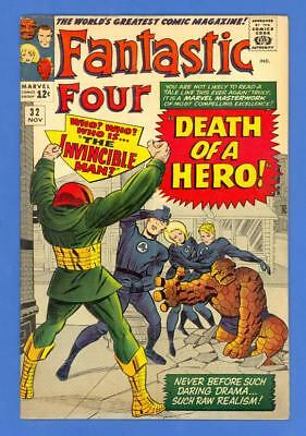 Fantastic Four #32 – Marvel (1964) – Jack Kirby Cover & Art – Invincible Man