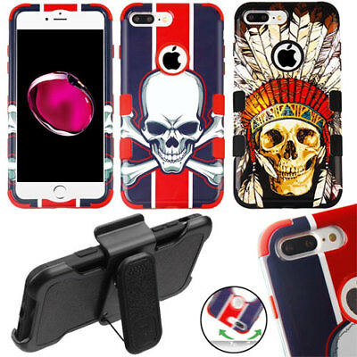 Skull Durable Hybrid Tuff Hard Shell Case Slim Cover Shock Absorbent Protector