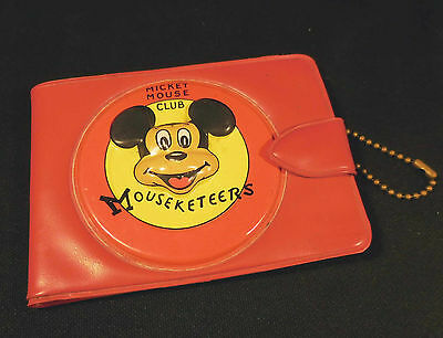 Mickey Mouse Club Mouseketeers Disney Childs Wallet c1960s