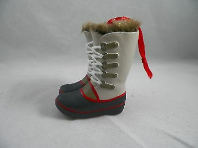 Tall Winter Boots with Fur Christmas Tree Ornament new holiday