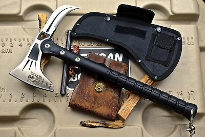 CFK iPak Custom CNC EAGLE-CLAW Stainless Axe Tomahawk Tactical ABS Handle Knife