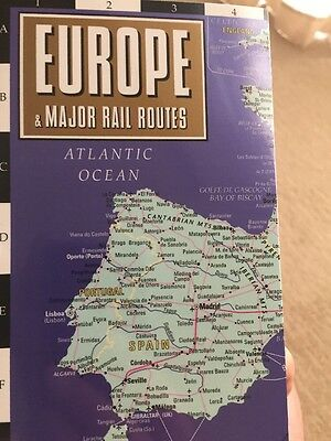 Streetwise Maps Europe Major Rail Routes Laminated Map 2014