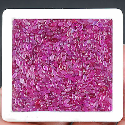 102.75 Cts/1010 Pcs Natural Unheated Lovely Rubies Pinkish Red Color Mozambique