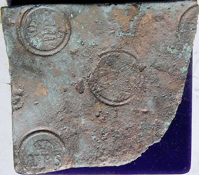 Piece of 175? Swedish 1 Daler Copper Plate Money with 4 Mint Stampings.
