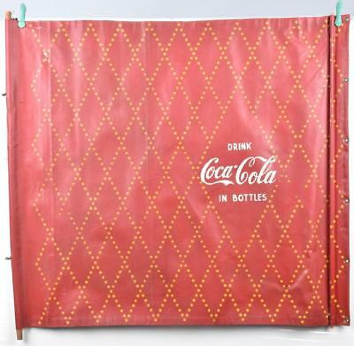 "1930's-40's Coca Cola Canvas Advertising Banner,  36"" x 30""  EX Condition"