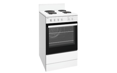 Chef 54cm Fan-Forced Solid Hotplate White Stove - Model: CFE536WB