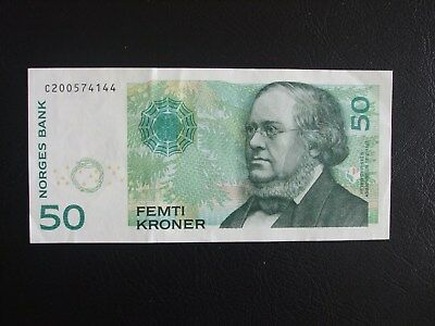 Norway 50 Krone Denomination Banknote