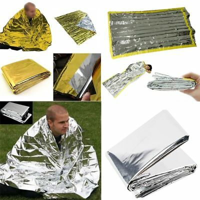 Outdoor Emergency Rescue Blanket Safety Survival Insulating Mylar Thermal Heat
