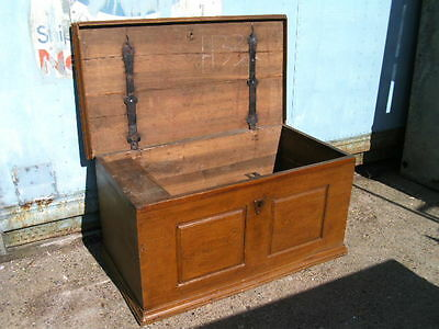 """Oak coffer chest trunk coffee-table storage with candlebox 45""""x24""""x22"""""""