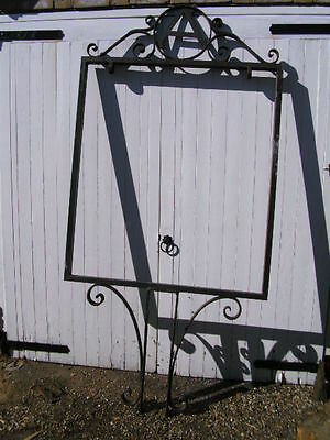 Vintage wrought iron Adnams LARGE pub shop sign hanger signpost mount bracket