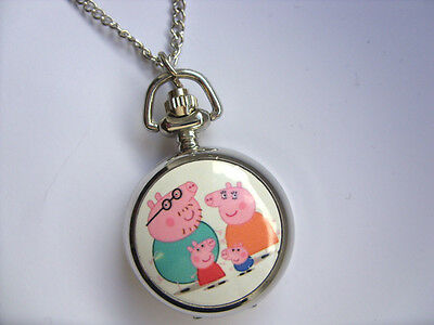 SALE  Great PEPPA PIG Coloured  Necklace Watch  SALE   c