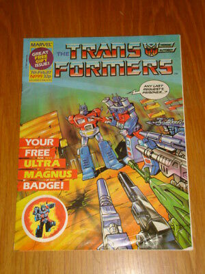 Transformers British Weekly #99 Marvel With Free Gift 1987
