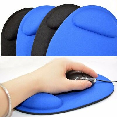 Comfort Anti Slip Gel Mouse Mat Pad With Rest Wrist Comfort Support Laptop PC