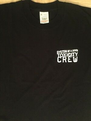 System Of A Down Toxicity Crew T-Shirt Men's XL Rare