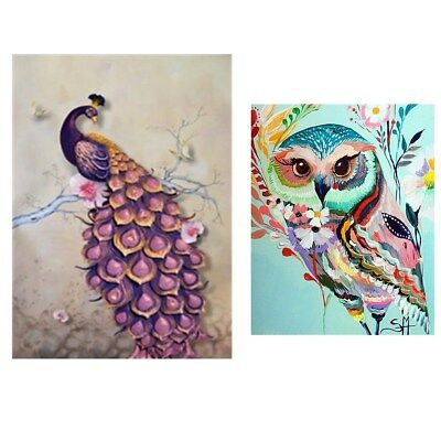 AU Peacock/Owl DIY 5D Diamond Embroidery Painting Cross Stitch Crafts Home Decor