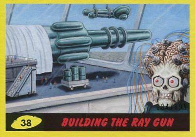 Mars Attacks The Revenge Yellow [199] Base Card #38 Building the Ray Gun