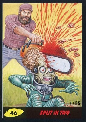 Mars Attacks The Revenge Black [55] Base Card #46 Split in Two