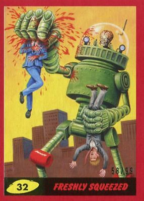 Mars Attacks The Revenge Red [99] Base Card #32 Freshly Squeezed
