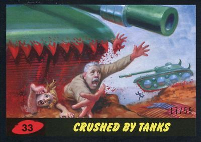 Mars Attacks The Revenge Black [55] Base Card #33 Crushed by Tanks