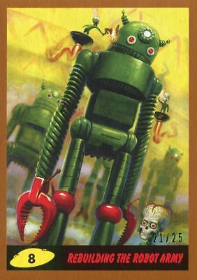 Mars Attacks The Revenge Bronze [25] Base Card #8 Rebuilding the Robot Army