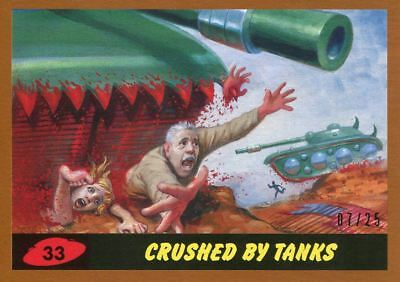 Mars Attacks The Revenge Bronze [25] Base Card #33 Crushed by Tanks