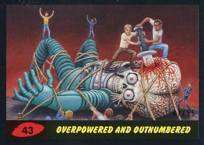 Mars Attacks The Revenge Black [55] Base Card #43 Overpowered and Outnumbered