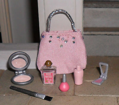 Dolls' 1/12Th Scale Make Up Bag And Make Up