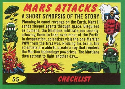Mars Attacks The Revenge Green Base Card #55 Checklist