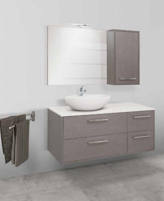 MOBILE BAGNO CLEVER 122 Global Trade Lavabo Appoggio E Top In Resina ...
