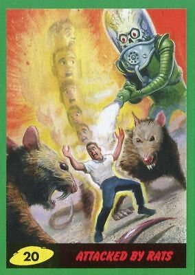 Mars Attacks The Revenge Green Base Card #20 Attacked by Rats