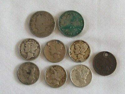 9 USA Coins Various Dates & Denominations