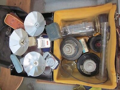 Vintage Camera Equipment And Film Developing Accessories With Case