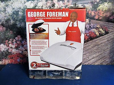 """New George Foreman GR0036W Champ Grill 36 Sq Inch - 8.5"""" x 5.5"""" White Compact"""