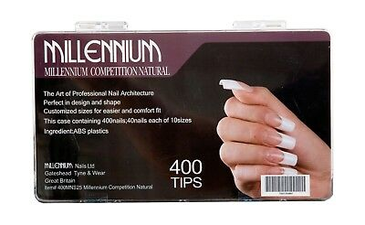 Millennium Competition Natural Nail Tips 400 box
