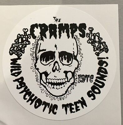 Brand New Vinyl Window Sticker cramps rockabilly psychobilly punk circular 90mm
