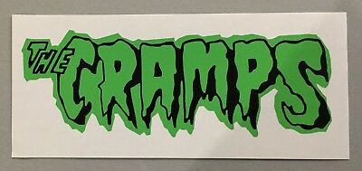 New unused shaped Vinyl Sticker 19cm cramps rockabilly psychobilly car iPad