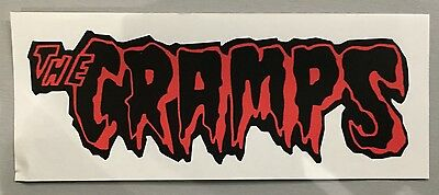 New 19cm unused shaped Vinyl Sticker cramps rockabilly psychobilly car iPad