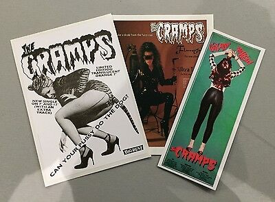 3 new unused Vinyl Stickers cramps rockabilly psychobilly meteors punk car iPad