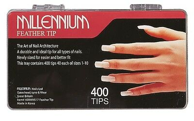 Millennium Feather Nail Tips 400 box
